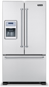 "VCFF136DSS Viking Professional Series 36"" French-Door Bottom-Mount Refrigerator/Freezer with Ice and Water Dispenser - Stainless Steel"