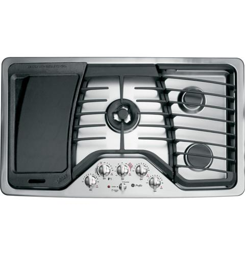"PGP986SETSS GE Profile 36"" Built-in Gas Cooktop - Stainless Steel"