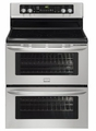 "FGEF306TMF Frigidaire Gallery 30"" Freestanding Electric Double Oven Range - Stainless Steel"