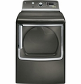 GTDS825EDMC General Electric GE 7.8 cu. ft. Capacity Electric Dryer with Stainless Steel Drum and Steam - Metallic Carbon