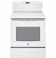 "PB930TFWW GE Profile Series 30"" Free-Standing Electric Convection Range with Warming Drawer - White"