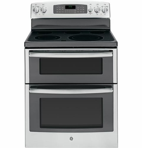 "JB850SFSS GE 30"" Free-Standing Electric Double Oven Range - Stainless Steel"