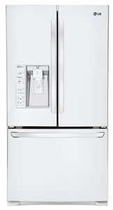 LFX29927SW LG Ultra-Large Capacity 3-Door French Door Refrigerator with Dual Ice Makers - White
