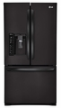 LFX29927SB LG Ultra-Large Capacity 3-Door French Door Refrigerator with Dual Ice Makers - Black