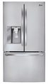 LFX29927ST LG Ultra-Large Capacity 3-Door French Door Refrigerator with Dual Ice Makers - Stainless Steel