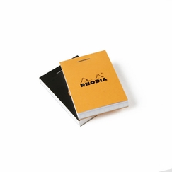 Rhodia Top Staple Bound No. 10 Notepad (2 x 3) in Black