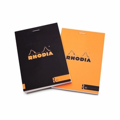 Rhodia Premium Staple Bound No. 12 Notepad (3.375 x 4.75) in Black
