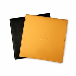 Rhodia Leatherette No. 148 Notepad Holder (5.75 x 5.75) in Orange [R118148]