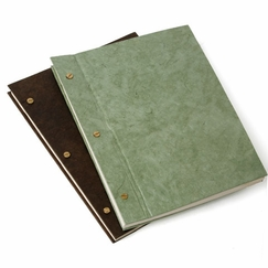 Natural Lokta Screw Post Note Book (8.75 x 11.5) in Chocolate