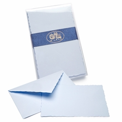 G. Lalo Verge de France Correspondence Sets (3.75 x 6) in Blue