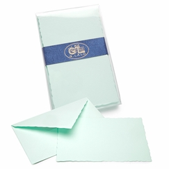 G. Lalo Verge de France Correspondence Sets (3.75 x 6) in Turquoise