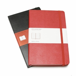 Moleskine Large Desk Address Book (5 x 8.25) in Red