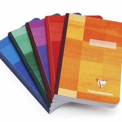 Clairefontaine Pocket Ruled Cloth Bound Notebook (3.75 x 5.5) in Ruled (lined pages) [9596]
