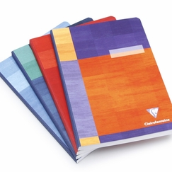 Clairefontaine Large Cloth Bound Notebook (6 x 8.25) in Plain (blank pages) [9540]