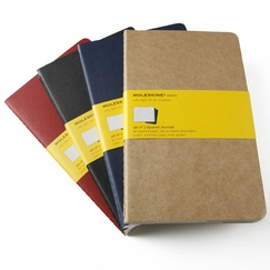 Moleskine Cahier Large Squared Notebook (set of 3) (5 x 8.25) in Red