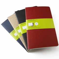 Moleskine Cahier Large Plain Notebook (set of 3) (5 x 8.25) in Red