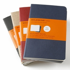 Moleskine Cahier Pocket Ruled Notebook (set of 3) (3.5 x 5.5) in Red