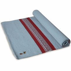 Barefoot Yoga Mysore Practice Rug in Calcutta Blue/Red