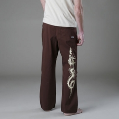 Be Present Dragon Practice Pant in Chocolate w/ Dragon