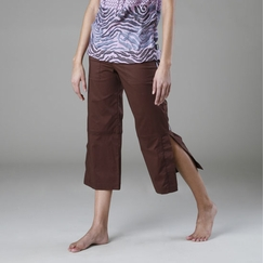 Be Present Mobility Pant (side slits) in Chocolate