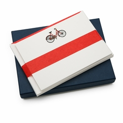 Jan Petr Obr Red Bicycle Boxed Flat Note Cards