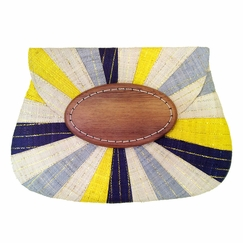Mar Y Sol Opal Clutch in Navy Multi