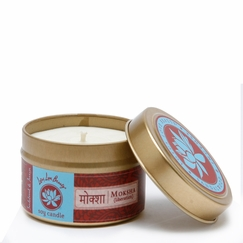 Lotus Love Beauty Soy Candle Tin in Moksha (Sandalwood & Incense)
