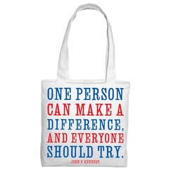 Quotable Cards Make a Difference Tote (14 x 14 x 4)