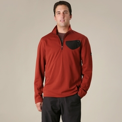 Prana Stinger Quarter Zip in Brick