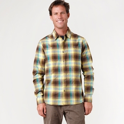 Organic Prana Morrison Long Sleeve in Brown
