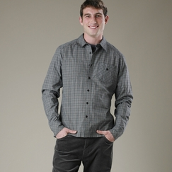 Organic Nau Cross Check Shirt in Caviar Plaid