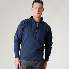 Organic Verve Avignon Fleece in Dark Navy