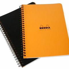 Rhodia Side Spiral Bound A4+ Meeting Book (9 x 11.75) in Orange [R193408]