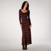 Covet Long Sleeve Stripe Dress