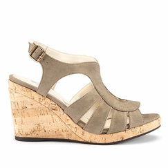 Novacas Lucia Wedge Sandal in Tan