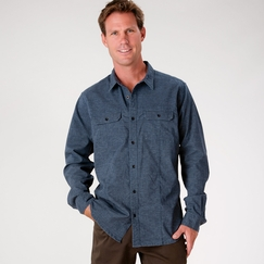Hemp Prana Sutra Shirt in Midnight