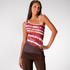 Eco Prana Etta Top in Picante Mirage