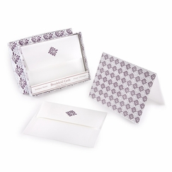 Brookfield Folded Boxed Note Cards Lilac Spray