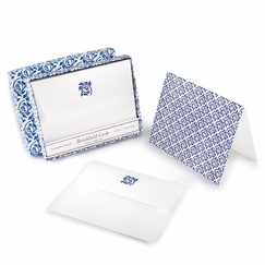 Brookfield Folded Boxed Note Cards Indigo Blossom