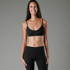 Organic Om Girl Asana Bra Top in Black