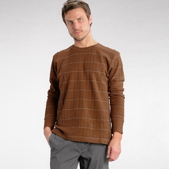 Organic Prana Ninebark Long Sleeve in Rust Heather