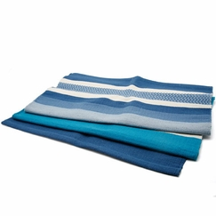 Hugger Mugger Cotton Yoga Rug in Caribbean Blue