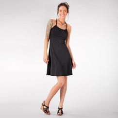 Eco Prana Quinn Dress in Black