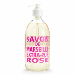Savon de Marseille Extra Pur Liquid Soap (16.9 oz Glass Bottle) in Rose