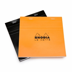 Rhodia Le Carre Staple Bound Square Notepad (8.25 x 8.25) in Orange