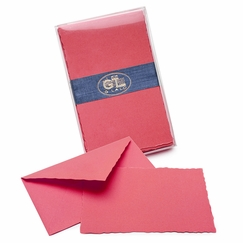G. Lalo Verge de France Correspondence Sets (3.75 x 6) in Raspberry