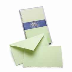G. Lalo Verge de France Correspondence Sets (3.75 x 6) in Pistachio