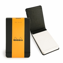 Rhodia Pocket Reporter Dot Grid Web Notepad (5.5 x 3.5) in Black