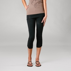 Organic Om Girl Ahimsa Capri in Black
