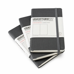 Leuchtturm1917 Linen Pocket Hard Cover Notebook (3.5 x 6) in Plain (blank)